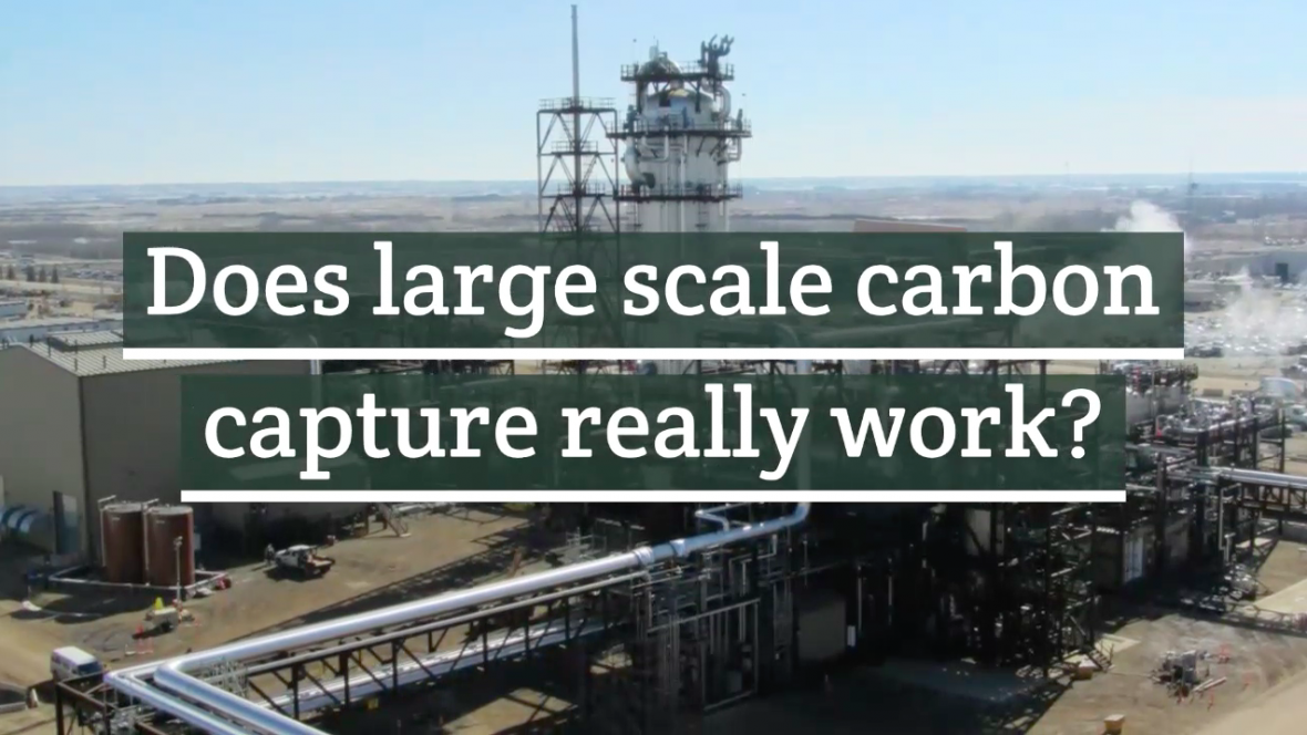 Does large scale carbon capture really work?