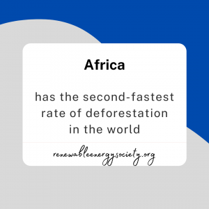 Africa has the second fastest rate of deforestation in the world